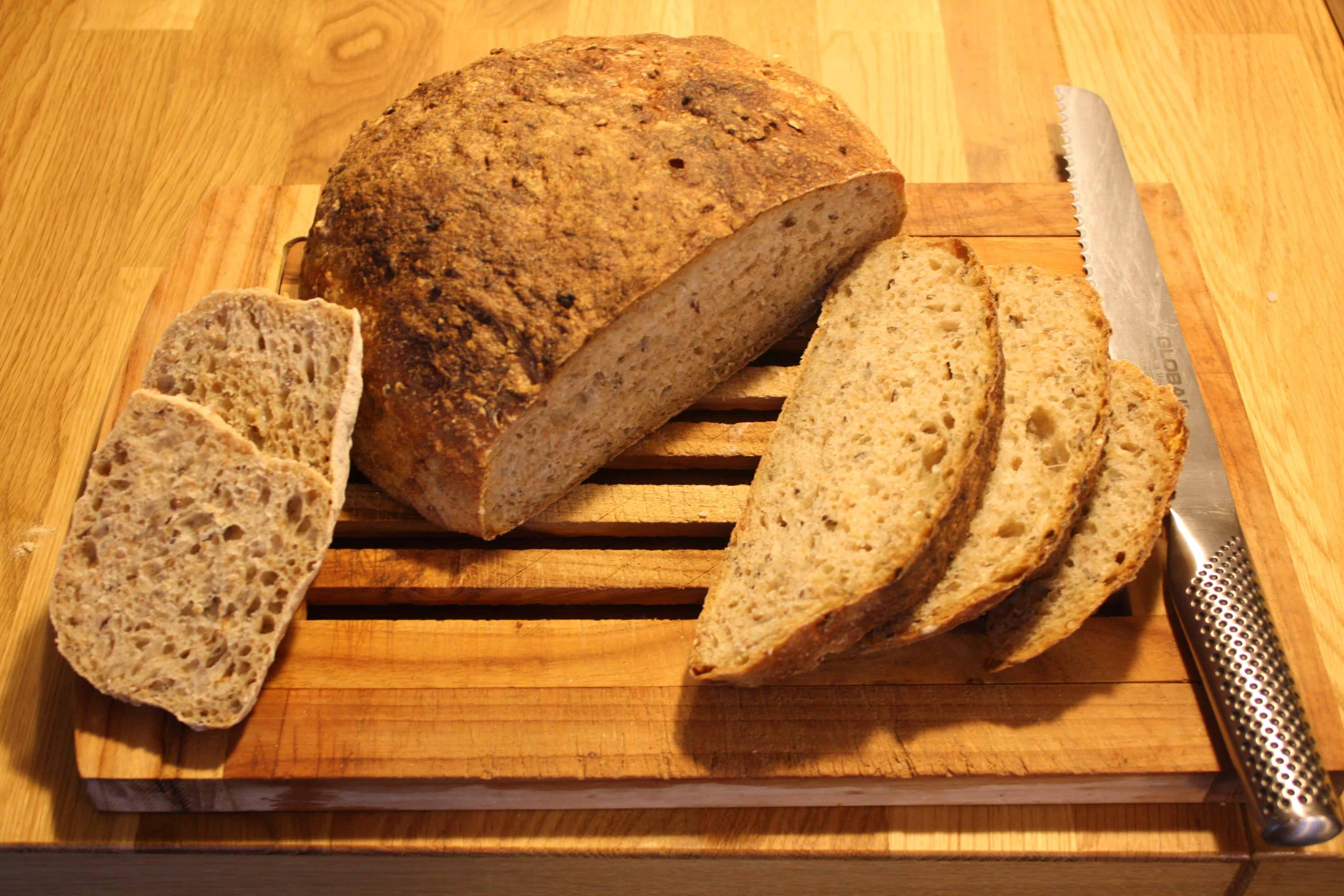 Høstbrød med kerner bagt på 3 måder