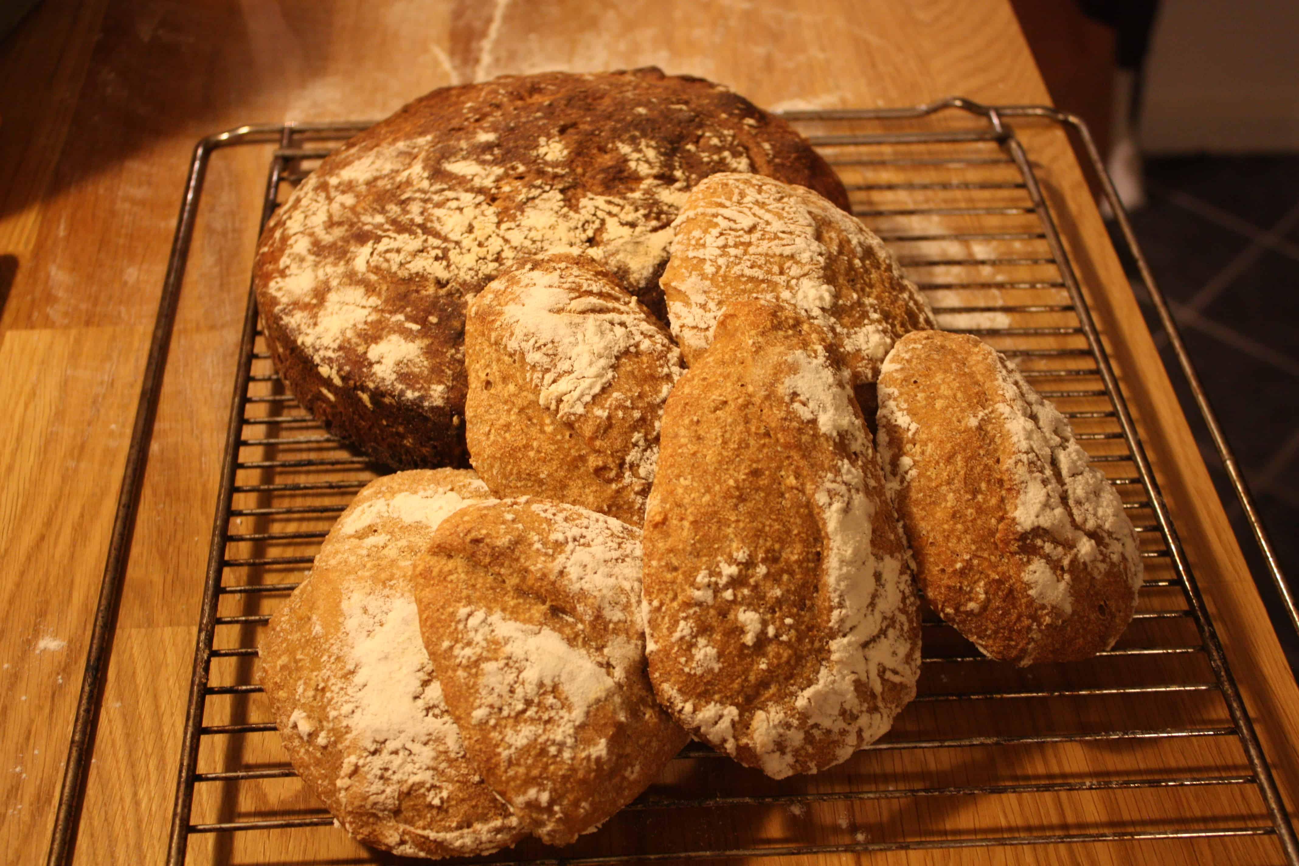 Brød med ølandshvedemel og æblesurdej
