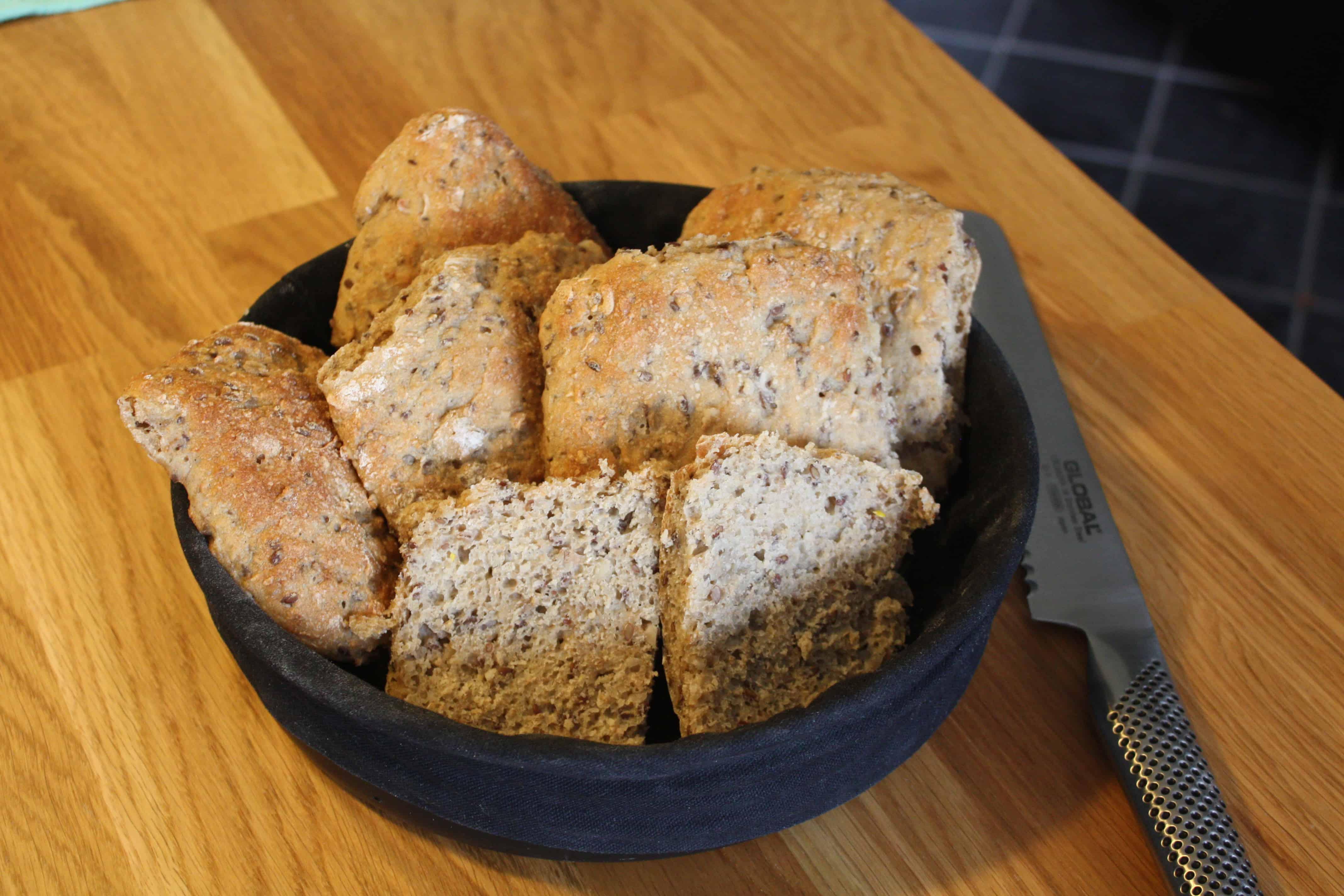 5- korn brød på speltmel